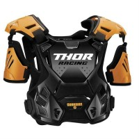 Thor Guardian Adult Motocross Chest Protector Body Armour with Arm Guards ORANGE