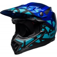 Bell Moto 9 Motocross Helmet TREMOR Matte Gloss Black Blue XS or SMALL ONLY