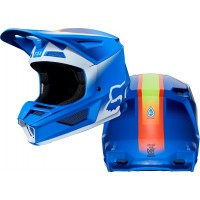 Fox V2 VLAR Motocross Helmet BLUE LARGE ONLY