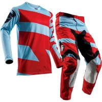 2018 Thor MX Pulse LEVEL Motocross Gear Powder Blue Red