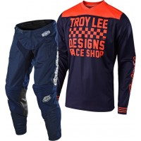 Troy Lee Designs RACESHOP TLD MX 18.1 GP Motocross Gear Navy Navy
