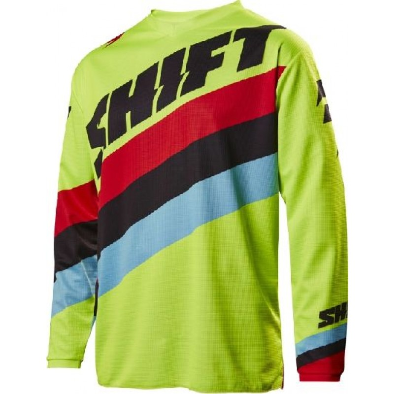 Shift WHIT3 Label Tarmac Kids Youth Motocross Jersey Flo Yellow