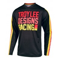 2020 Troy Lee Designs PREMIX Youth Kids TLD GP Motocross Jersey Black Yellow