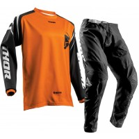 Thor Sector Zones Kids Youth Motocross Gear BLACK ORANGE