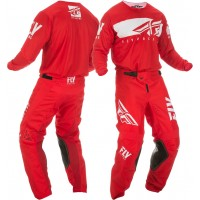 2019 Fly Racing Kinetic Shield Motocross Gear Red White