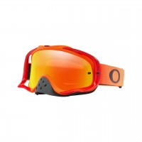 Oakley Crowbar ORANGE RED Motocross Goggles FIRE IRIDIUM LENS
