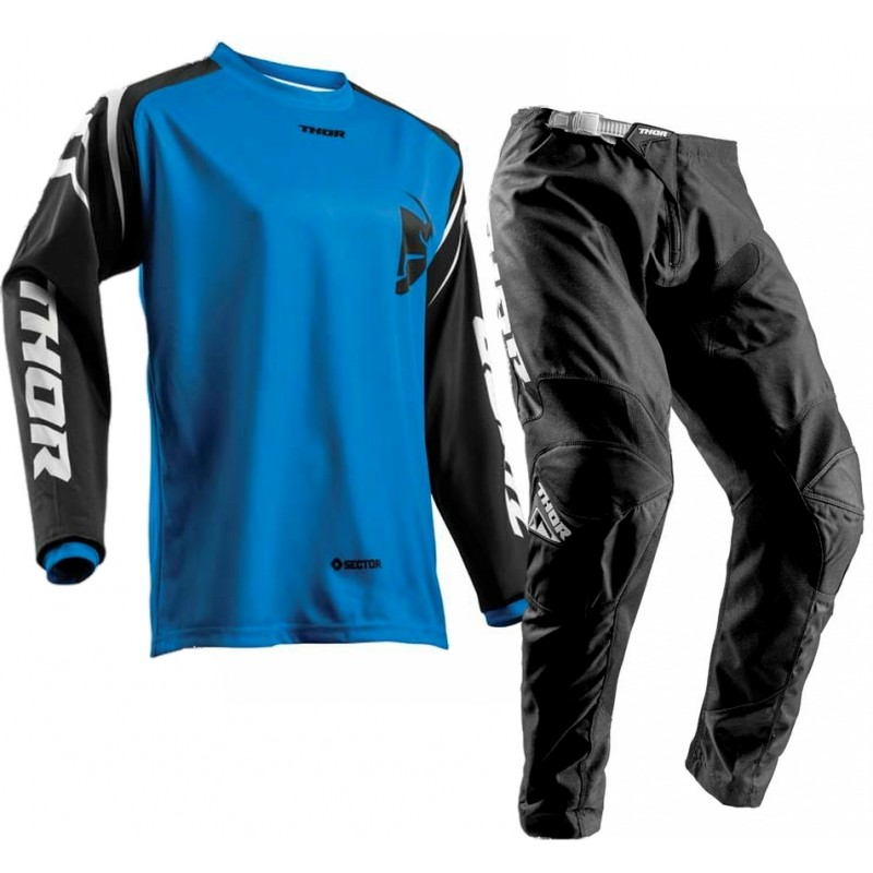 Thor Sector Zones Kids Youth Motocross Gear BLACK BLUE