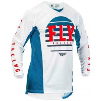 2020 Fly Racing Kinetic K220 Youth Kids Motocross Jersey Blue White Red