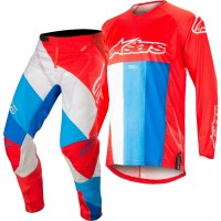 2019 Alpinestars Techstar Venom Red White Blue Motocross Gear