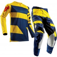 Thor Pulse Level Kids Youth Motocross Gear NAVY YELLOW