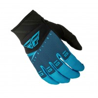 2019 Fly Racing F16 Kids Youth Motocross Gloves Blue Black MEDIUM ONLY