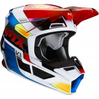 2020 Fox V1 YORR Motocross Helmet BLUE RED