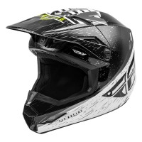 2020 Fly Racing Kinetic K120 Motocross Helmet BLACK WHITE HI VIZ