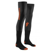 Thor MX Compression Motocross Knee Brace Socks Black Red