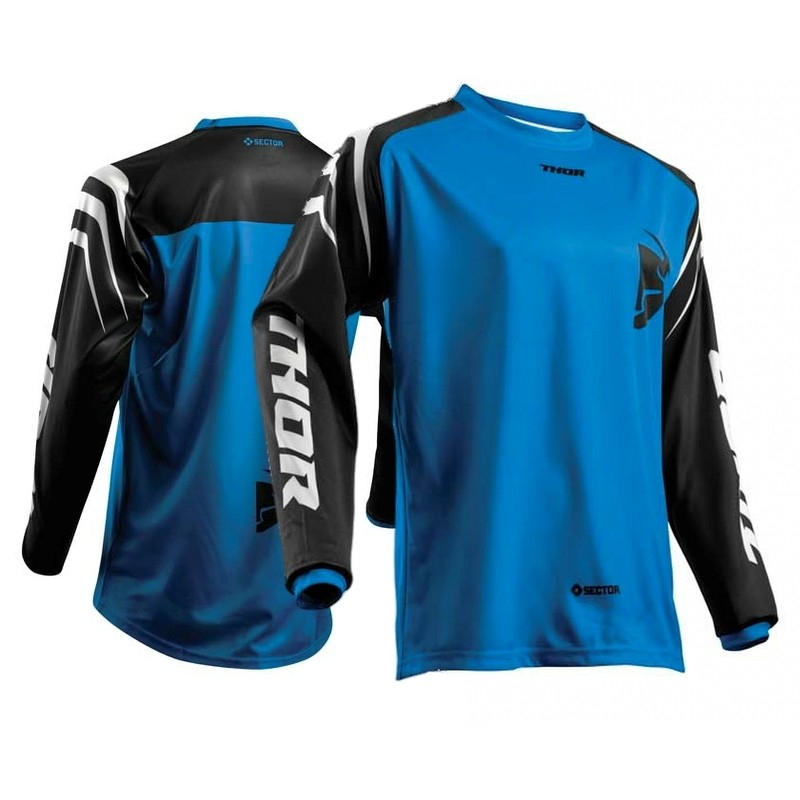Thor Sector ZONES Motocross Jersey BLACK BLUE
