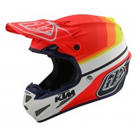 Troy Lee Designs TLD SE4 COMP MIPS MIRAGE KTM Motocross Helmet WHITE RED