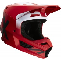 2020 Fox V1 WERD Motocross Helmet FLAME RED