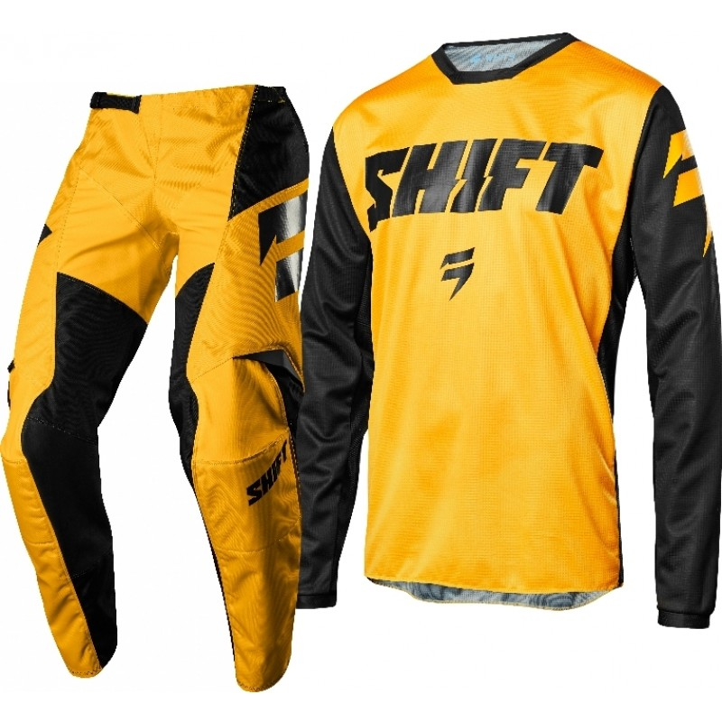 Shift WHIT3 Label Ninety Seven Kids Youth Motocross Gear YELLOW 26 ONLY