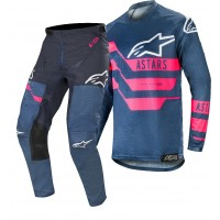 "2019 Alpinestars Racer FLAGSHIP Navy Flou Pink Motocross Gear 32 or 34"" ONLY"