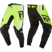 2019 Fly Racing Evolution Motocross Pants Hi Viz Yellow White