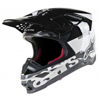 Alpinestars Supertech SM-8 SM8 Radium Motocross Helmet White Black Grey