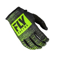 2019 Fly Racing Kinetic Noiz Motocross Gloves Black Hi Viz