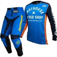 Fasthouse GRINDHOUSE Motocross Gear BLUE HERITAGE BLUE 28 or 38 ONLY