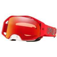 Oakley Airbrake HERITAGE STRIPE RED Motocross Goggles PRIZM TORCH LENS