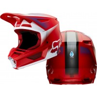 2020 Fox V2 VLAR Motocross Helmet FLAME RED