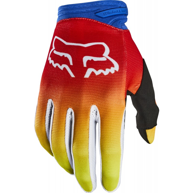 2020 Fox Dirtpaw Motocross Gloves FYCE BLUE RED