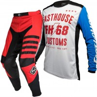 Fasthouse SPEEDSTYLE Motocross Gear RED WORX WHITE BLUE
