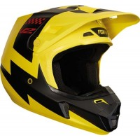 Fox V2 MASTAR Motocross Helmet YELLOW XL ONLY