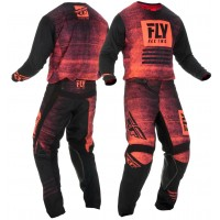 2019 Fly Racing Kinetic Noiz Motocross Gear Red Black