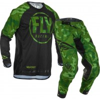 2020 Fly Racing Evolution Motocross Gear Green Black Camo