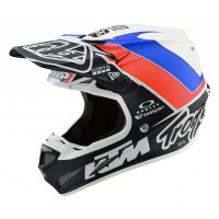 Troy Lee Designs TLD SE4 COMP MIPS UNITE TEAM KTM Motocross Helmet WHITE NAVY