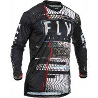 2020 Fly Racing Lite GLITCH Motocross Jersey BLACK RED BLUE