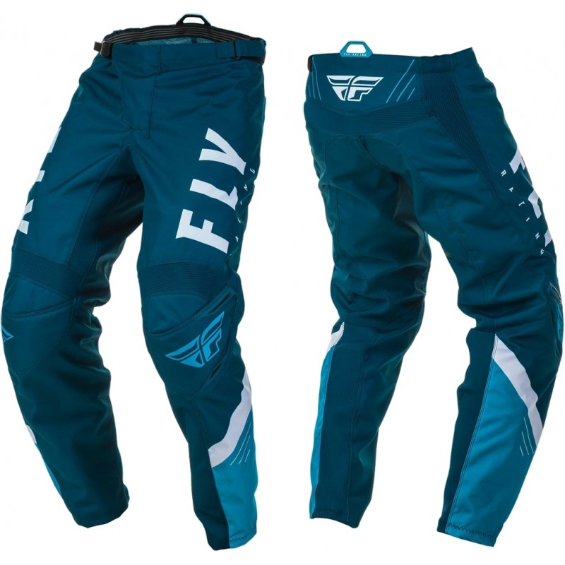 2020 Fly Racing F16 Youth Kids Motocross Pants Navy Blue White