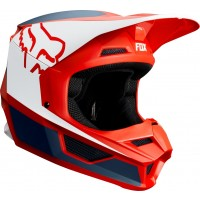 2019 Fox V1 PRZM Motocross Helmet NAVY RED XL or XXL ONLY