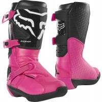 2020 Fox Comp Youth Kids Motocross Boots Black Pink