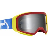 2020 Fox AIRSPACE SPARK Motocross Goggles PRIX BLUE RED with Mirrored Lens