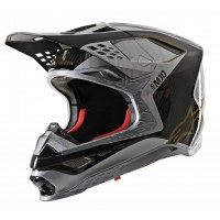 2020 Alpinestars Supertech SM-10 SM10 Alloy Motocross Helmet Black Gold