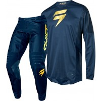 Shift Limited Edition 3LACK LABEL Motocross Gear NAVY GOLD 28 ONLY