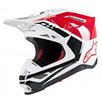 Alpinestars Supertech SM-8 SM8 Triple Motocross Helmet Gloss Red White