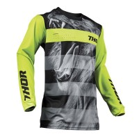 2019 Thor MX Pulse Savage Big Kat Motocross Jersey Black Lime