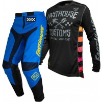 Fasthouse GRINDHOUSE Motocross Gear BLUE HAWK BLACK 38 ONLY