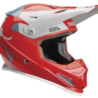 Thor Sector Shear Motocross Helmet RED LIGHT GREY