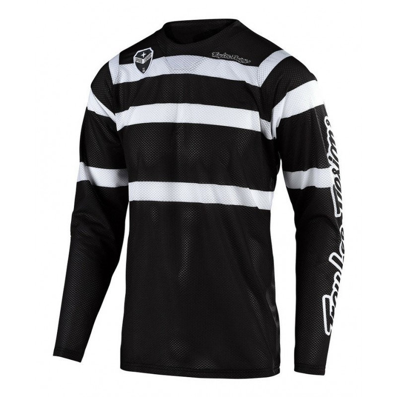 2020 Troy Lee Designs TLD MX SE AIR SPECTRUM Motocross Jersey Black White