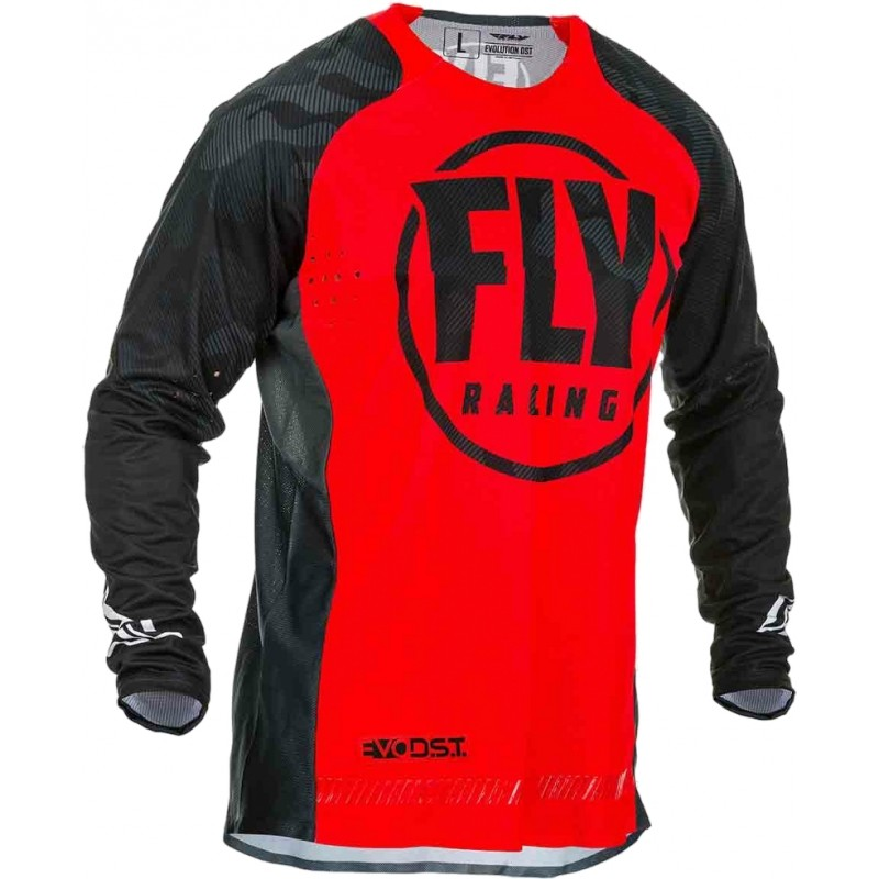 2020 Fly Racing Evolution Motocross Jersey Red Black Camo