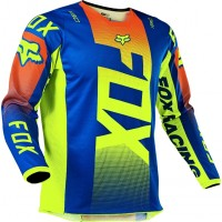 2021 Fox 180 Youth Kids Motocross Jersey OKTIV BLUE XL ONLY