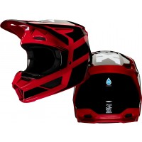 Fox V2 HAYL Motocross Helmet FLAME RED XL ONLY